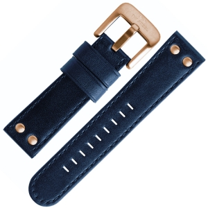 TW Steel Watch Band TW404, TW406, CE6000 - Blue, Rose Golden Buckle 22mm