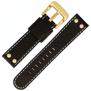 TW Steel Watch Band TW7, TW8, TW29, TW30 - Black 22mm