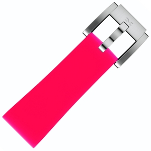 Silicone Marc Coblen Watch Strap Dark Pink 22mm