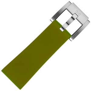 Silicone Marc Coblen Watch Strap Army Green 22mm