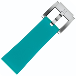 Silicone Marc Coblen Watch Strap Turquoise 22mm