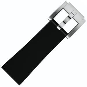 Silicone Marc Coblen Watch Strap Black 22mm