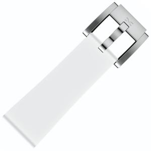 Silicone Marc Coblen Watch Strap White 22mm
