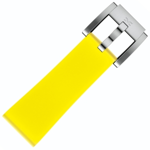 Silicone Marc Coblen Watch Strap Lemon Yellow 22mm
