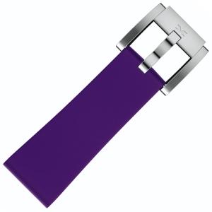 Silicone Marc Coblen Watch Strap Purple 22mm