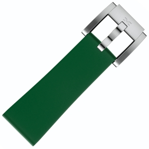 Silicone Marc Coblen Watch Strap Dark Green 22mm