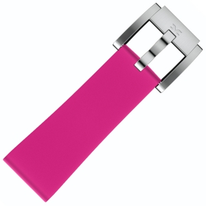 Silicone Marc Coblen Watch Strap Pink 22mm