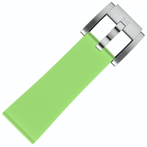 Silicone Marc Coblen Watch Strap Light Green 22mm