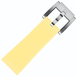 Silicone Marc Coblen Watch Strap Pastel Yellow 22mm