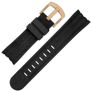 TW Steel Watch Band TW76, TW90, TW91, TW93 - Black Rubber 22mm