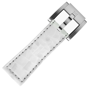 Marc Coblen / TW Steel Watch Strap White Leather Alligator 22mm