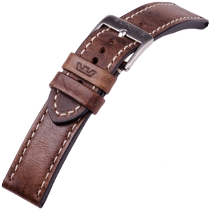 Glycine Watch Strap Vintage Saddle Leather Brown - LB7BF