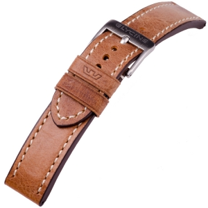 Glycine Watch Strap Vintage Saddle leather Lightbrown - LB7BH