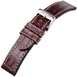Glycine Watch Strap Croco Calfskin Brown - LBN7