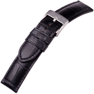 Glycine Watch Strap Croco Calfskin Black - LBK9