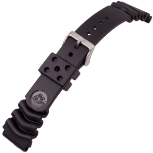 Seiko Z22 Watch Strap for Divers Watches Black Rubber - 22mm