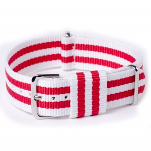 NATO Lars Larsen White Red Bond White Nylon 20mm - SS