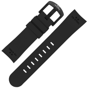 TW Steel Watch Band TW43 - Black Rubber 24mm