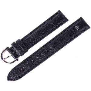 Maurice Lacroix Watch Strap Ostrich Black