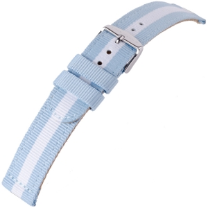 Nylon Watch Strap Lars Larsen Cloud Argentina Blue White 20mm - SS/YG/RG