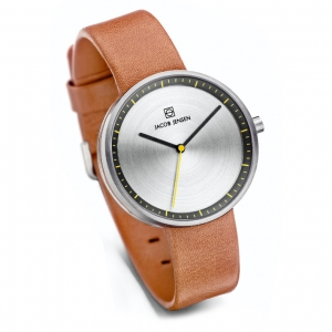 Jacob Jensen Watch Band Strata 281, cognac leather 16mm