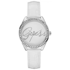 Guess Watch Band W0229L1 White Leather Croco Embossed