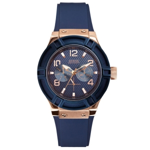 Guess Watch Band W0571L1 Rigor Blue Rubber