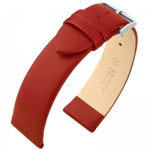 Hirsch Toronto Watch Strap Italian Calf Skin Red