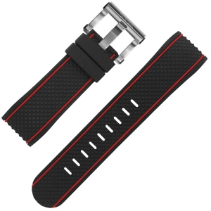 TW Steel Watch Strap TS1, TS2 Black Rubber 24mm