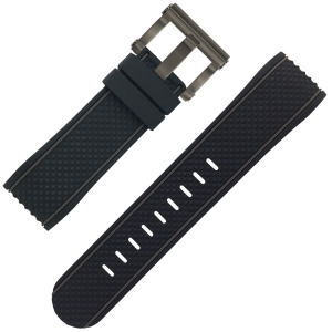 TW Steel Watch Strap TS4 Black Rubber 24mm