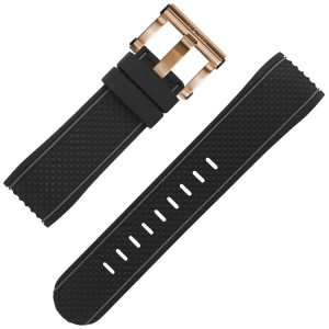 TW Steel Watch Strap TS5 Black Rubber 24mm