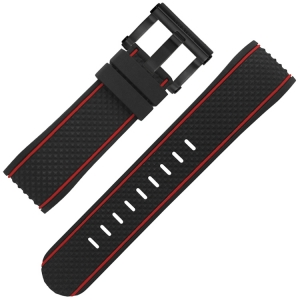 TW Steel Watch Strap TS6 Black Rubber 24mm