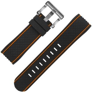 TW Steel Watch Strap TS1, TS2 Black Rubber 24mm