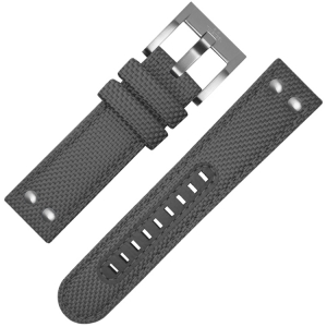 TW Steel Watch Strap VS12, VS14 Grey Canvas 24mm