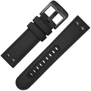 TW Steel Watch Strap VS42, VS44 Black Canvas 24mm