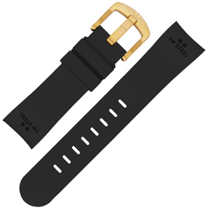 TW Steel Watch Band TW27, TWA27 - Black Rubber 24mm