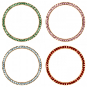 Marc Coblen / TW Steel 42mm SET 4X Bezel Rose Gold Steel Coloured Crystals