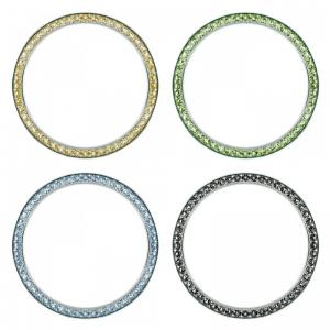 Marc Coblen / TW Steel 42mm SET 4X Bezel Stainless Steel Coloured Crystals