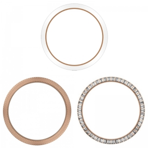 Marc Coblen / TW Steel 45mm SET 3X Bezel Rose Gold Steel Combi