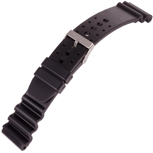 Diver Watch Strap Type Citizen and Seiko Rubber Black