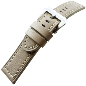 Vintage Watch Strap Lenzers Leather Gray