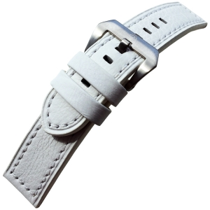 Vintage Watch Strap Lenzers Leather White