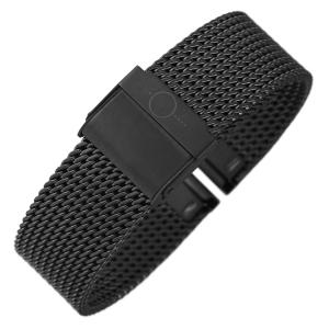 bandOh Mesh Milanaise Watch Bracelet Fine Woven Steel Black