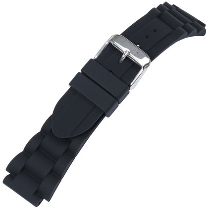 Rubber Links Watch Band Black Type 1