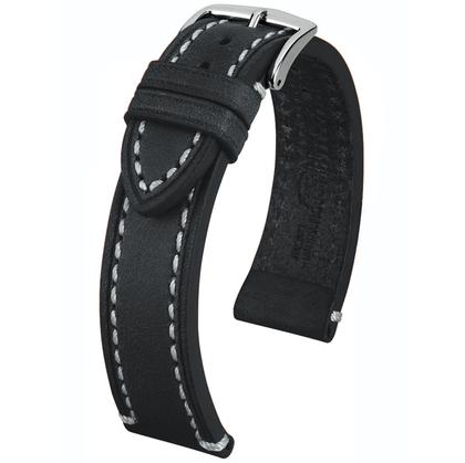 Hirsch Liberty Artisan Watchband Leather Black