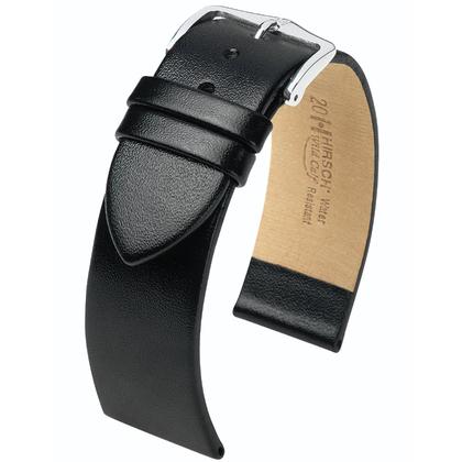 Hirsch Wild Calf Watchband Black