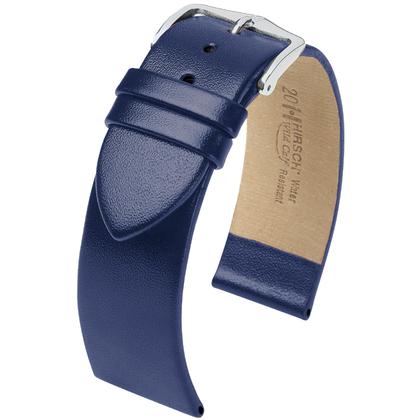 Hirsch Wild Calf Watchband Blue