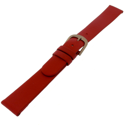 Danish Design Red Watch Strap Calfskin with Titanium Clasp