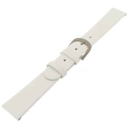Danish Design White Watch Strap Calfskin with Titanium Clasp