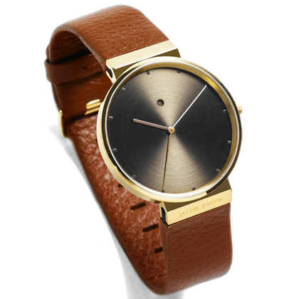 Jacob Jensen Watch Band 844 brown leather 19mm